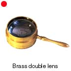 7006 - Brass double lens